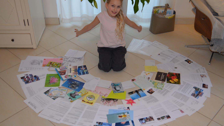 Emilia Simon aus Herbetswil schreibt Dankesbriefe (zvg/Manuela Simon)