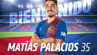 Matías Palacios wird beim FC Basel die Nummer 35 tragen. (FCB)