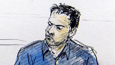Wesam A. vor Gericht: 2016 wurde er als IS-Unterstützer zu dreieinhalb Jahren Gefängnis verurteilt. (Keystone (Bellinzona, 2.3.2016))