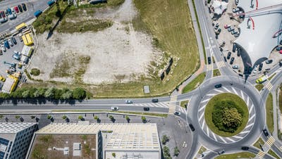 Das geplante Bauareal für die Pilatus-Arena in Kriens. (Bild: Pius Amrein (25. Juni 2020))
