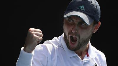 Aslan Karatsew ist der Überraschungsmann der Australian Open. (Keystone)