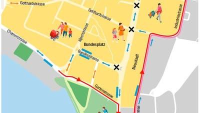 Eine Promenade für die Stadt Zug – wie steht der Stadtrat zum VCS-Vorschlag?