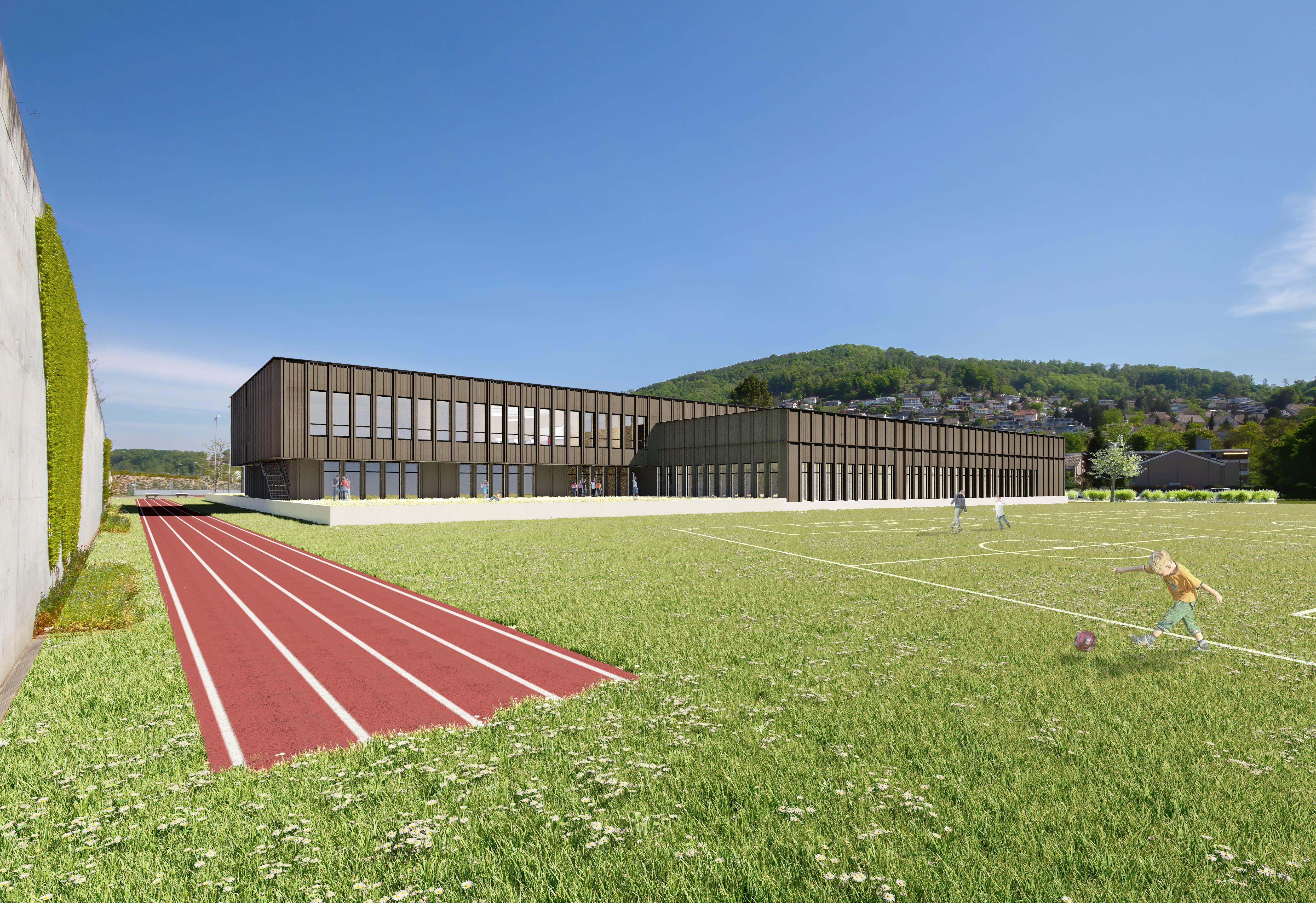 Schulgebäude.