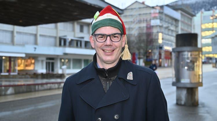 Fasnacht Grenchen: Obernarr Patrick Meier. (Oliver Menge / Z6)