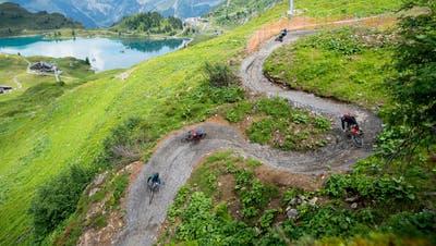 Der Bike-Trail vom Jochpass nach Trübsee. (Bild: Roger Grütter (Wolfenschiessen, 14. Juli 2018))