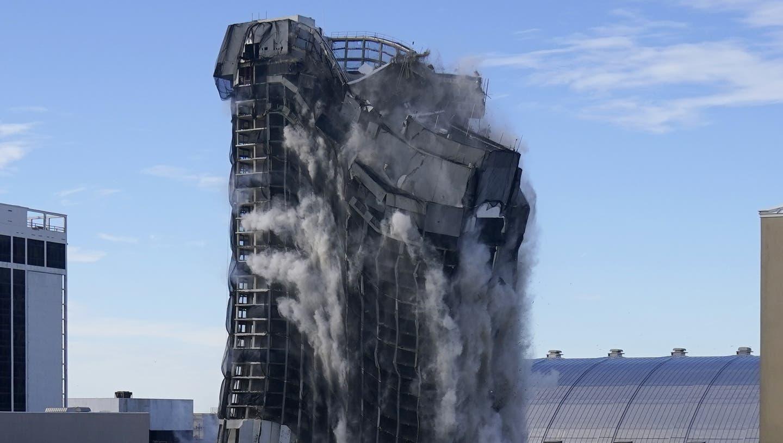 Hier wird das Trump-Plaza-Casino in Atlantic City gesprengt