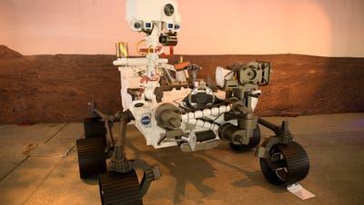 Der Perseverance-Rovervom Jet Propulsion Laboratory (JPL) der Nasa. (Patrick T. Fallon / AFP)