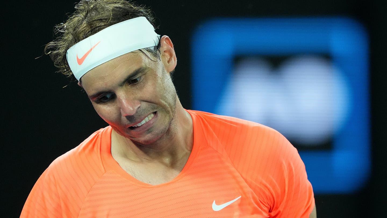 Stefanos Tsitsipas bezwingt bei den Australian Open Rafael Nadal. (Dean Lewins / EPA)