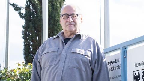 Der amtierende Gemeinderat Bruno Kaufmann kandidiert für das Hüttwiler Gemeindepräsidium. (Bild: Kevin Roth)