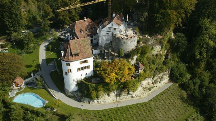 Schloss Trostburg in Teufenthal während Umbauarbeiten 2005. (Zvg / AAR)