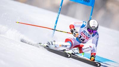 ABD0082_20210218 - CORTINA - ITALIEN: Wendy Holdener (SUI) am Donnerstag, 18. Februar 2021 während dem 1. Lauf für den Riesentorlauf der Damen im Rahmen der Alpinen Ski-Weltmeisterschaft 2021 in Cortina d'Ampezzo. - FOTO: APA/EXPA/JOHANN GRODER (Expa/Johann Groder / APA/APA)