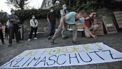 Im September 2020 gingen rund 70 junge Urner auf die Strassen Altdorfs und forderten griffigere Massnahmen in Sachen Klimawandel. (Bild: Urs Hanhart (Altdorf, 4. September 2020))