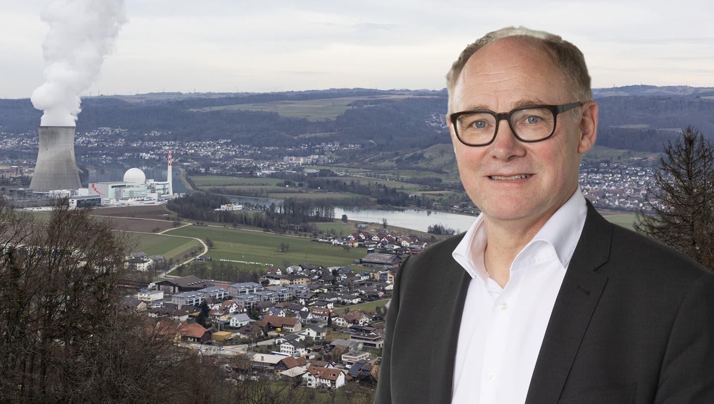 Die Knecht Mühle (links) und die Kuratle Group (blaues Dach) gehören nach dem Kernkraftwerk zu den grössten Arbeitgebern in Leibstadt. (Severin Bigler)