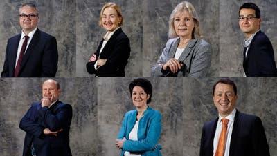 Das sind die sieben Kandidierenden. (Hanspeter Bärtschi / SZ)