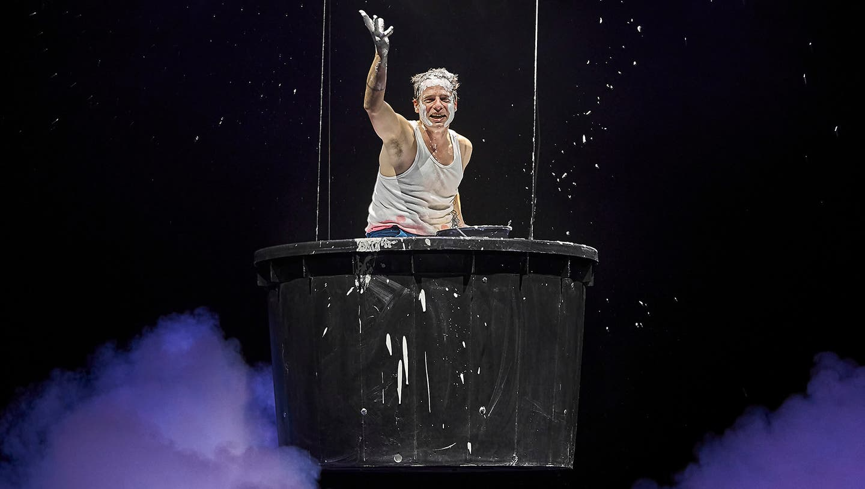 "Proben zu ""Moby Dick"" am Theater Basel mit Jörg Pohl. (Ingo Hoehn / bz)"