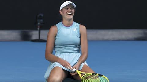 Die Amerikanerin Jennifer Brady steht bei den Australian Open erstmals im Final eines Grand-Slam-Turniers. (Hamish Blair / AP)