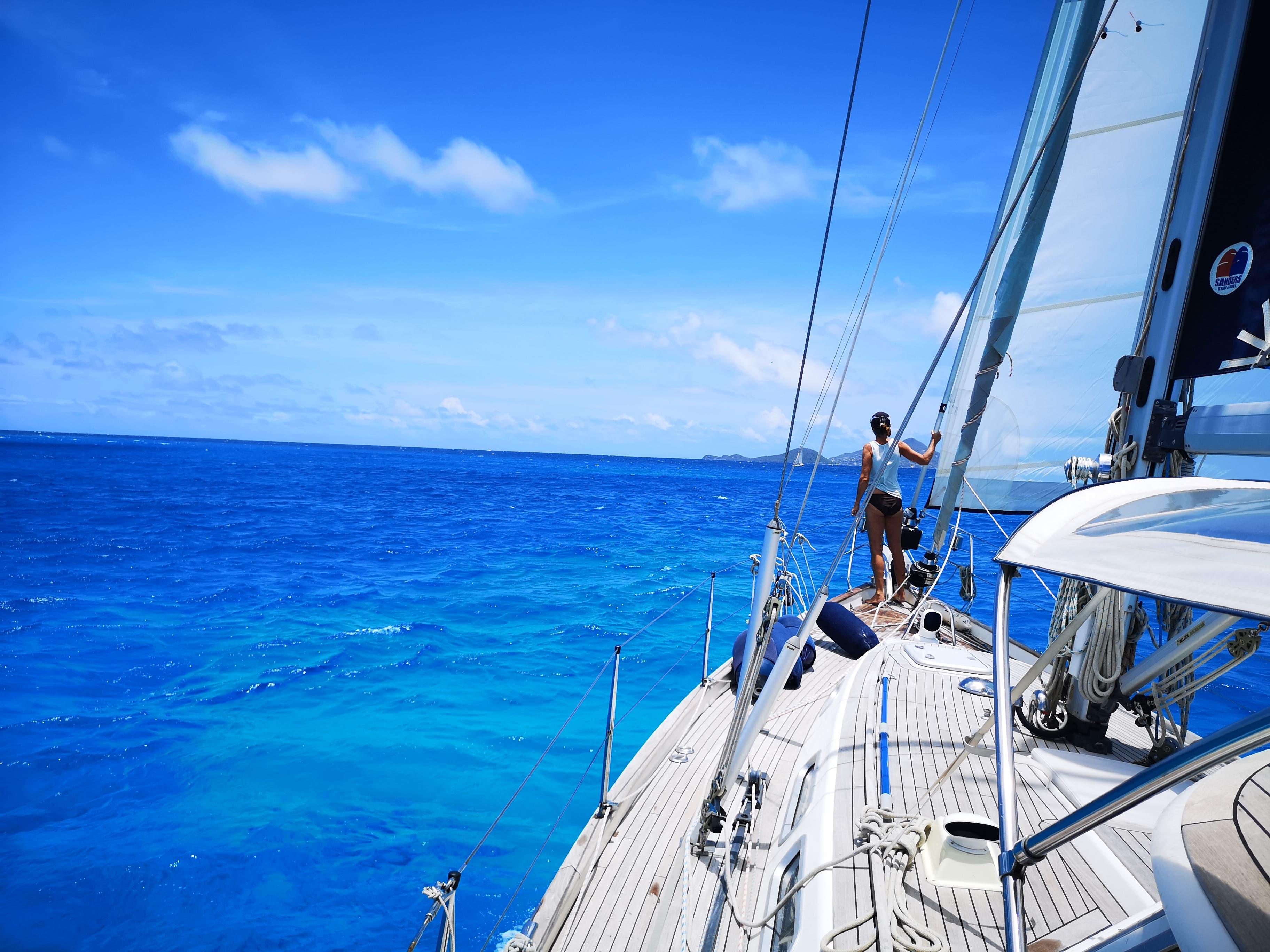 Die Segelyacht «Lupina» nimmt Kurs auf die nächste Destination.