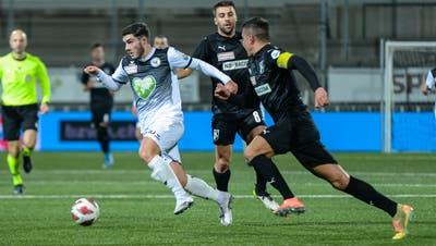 Tician Tushi(links)trifft diesesJahr bereits zum vierten Mal für den FC Wil (Bild: Gianluca Lombardi)