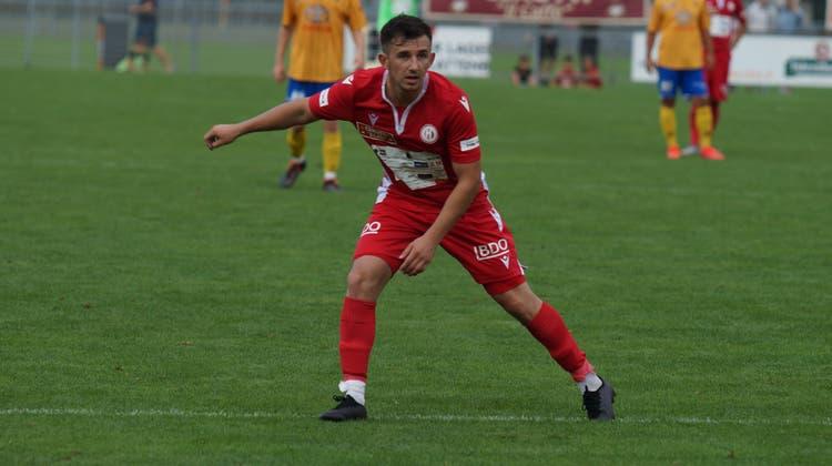 Blick Richtung Promotion League: Lulzim Aliu spielt künftig für YF Juventus. (Ruedi Burkart / Limmattaler Zeitung)