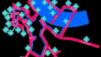 Das ist die Route des Fasnachts-Spaziergangs. (Bild: jetzt-fasnacht.ch)