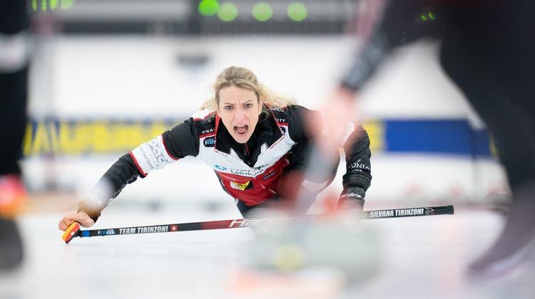 Liess mit ihrer Aarauer Equipe keine Zweifel offen: Skip Silvana Tirinzoni. (Swiss Curling)