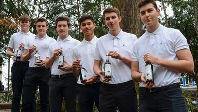 V.l. Lukas Oetiker, Yannick Herzig, Dominik Hidber, Chris Lehmann, Lucas Müller und Jonas Zehnder. (Zvg / Aargauer Zeitung)