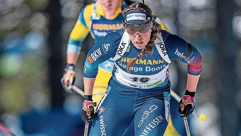 Lena Häcki war an der WM stabiler am Schiessstand und schneller in der Loipe. (Bild: Freshfocus)