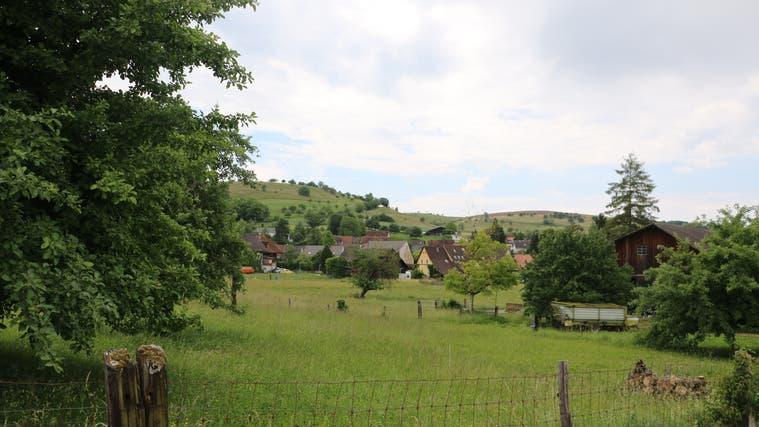 Am Gebiet Bünn in Magden scheiden sich die Geister: Soll es überbaut werden oder grün bleiben? (Dennis Kalt (17. Februar 2021))