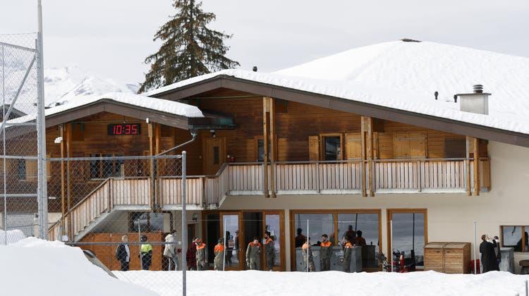 Massentest in Villars-sur-Ollon Anfang Februar. (Keystone)