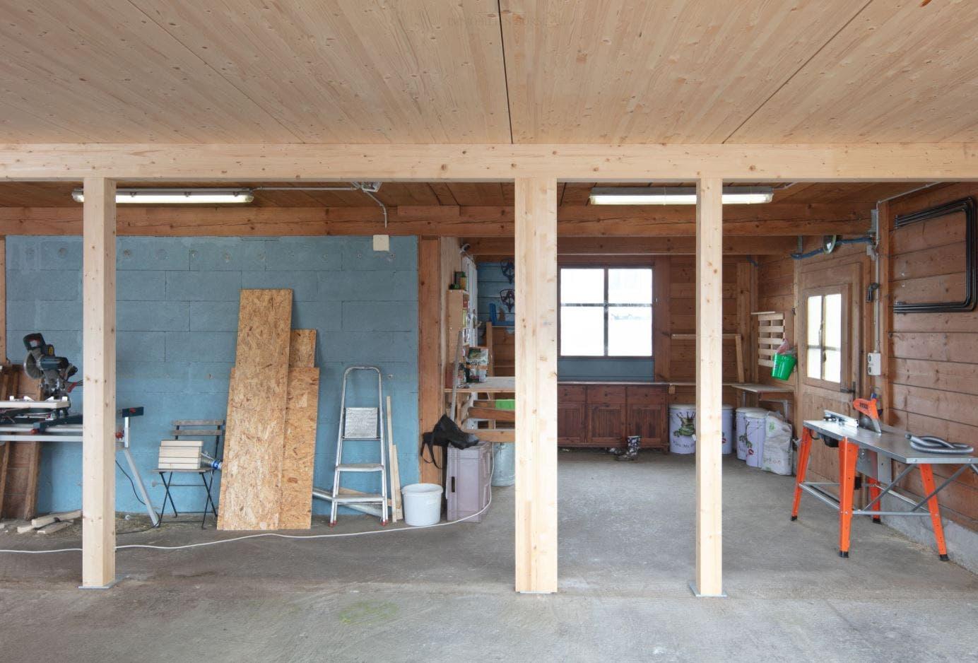 Einige Arbeiten wurden noch nicht zu Ende geführt und lassen den neuen Besitzern Raum zur Mitbestimmung.