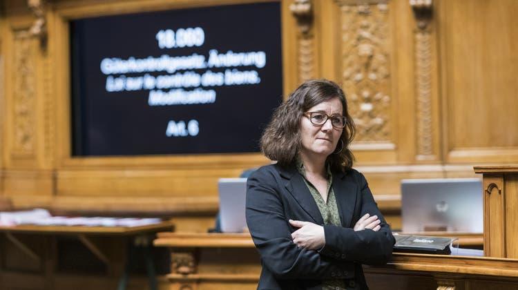 Nationalrätin Franziska Roth im März vor einem Jahr in Bern. Dieses Jahr will sie in Solothurn mit der SP - und zusammen mit den Grünen - rund einen Drittel der Wählenden abholen. (keystone)