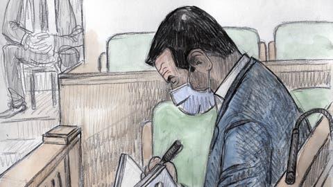 Pierre Maudet vor Gericht. (Frederic Bott / KEYSTONE)