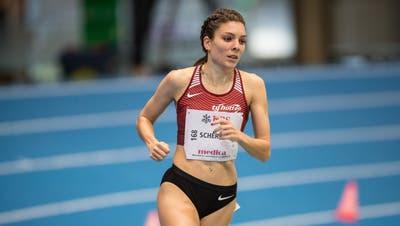 Trotz Sieg und Rekordzeit setzte es für Chiara Scherrer in der Halle in Magglingen eine Enttäuschung ab. (Bild: Ulf Schiller / ATHLETIX.CH)