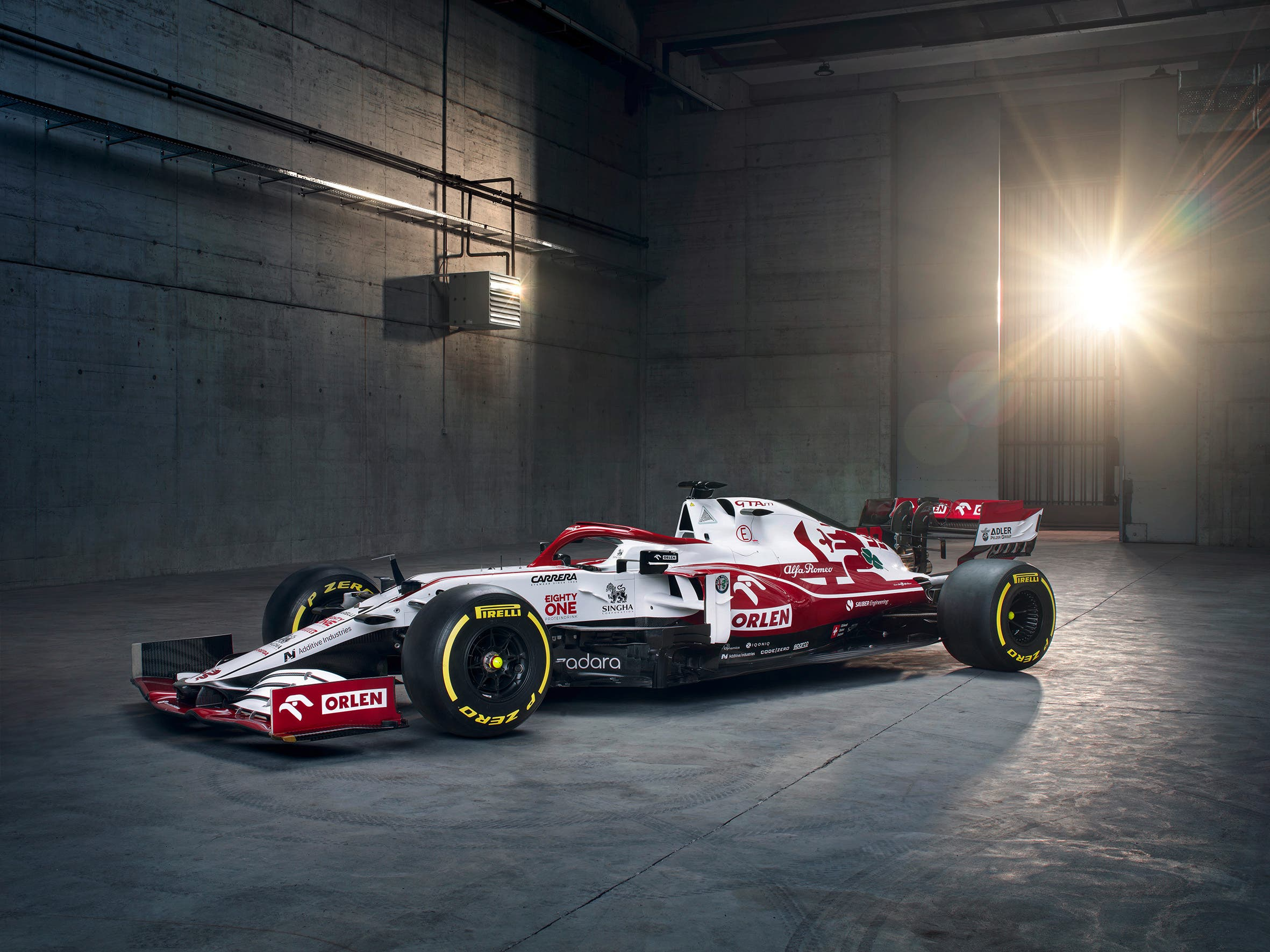 Das ist der neue Formel-1-Bolide des Hinwiler Rennstalls. Der C41 erblickt am Montagmittag das Licht der Welt.