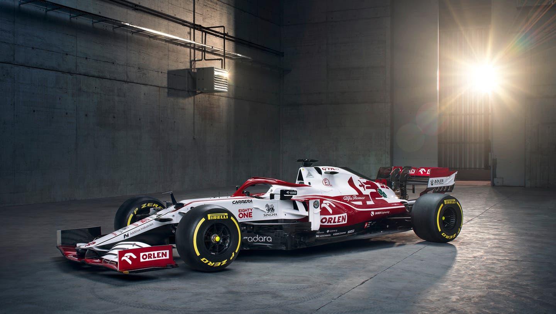 Das ist der neue Formel-1-Bolide des Hinwiler Rennstalls. Der C41erblickt am Montagmittag das Licht der Welt. (Alfa Romeo)