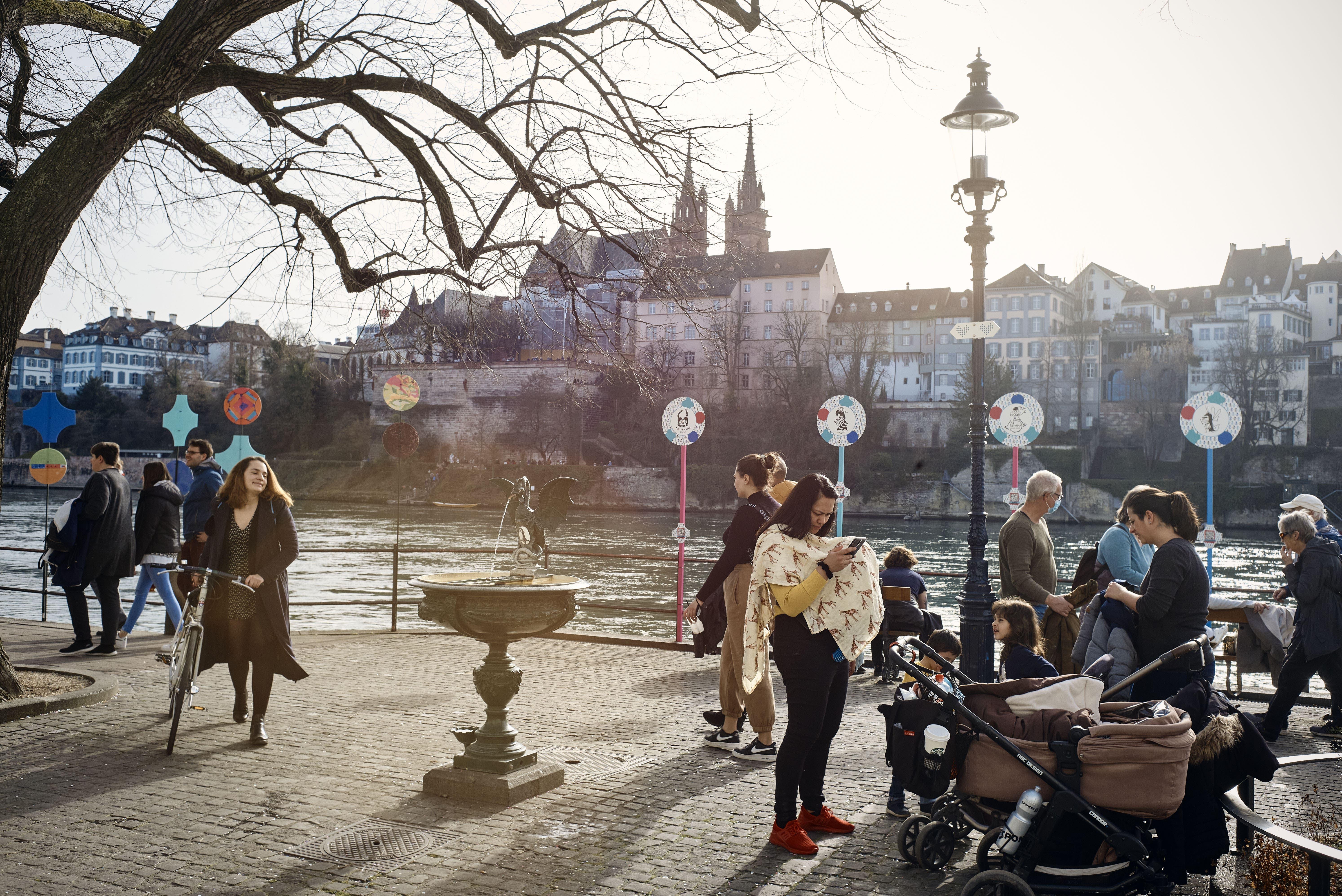 Das Wetter zeigte sich heute am Rhein von seiner besten Seite.
