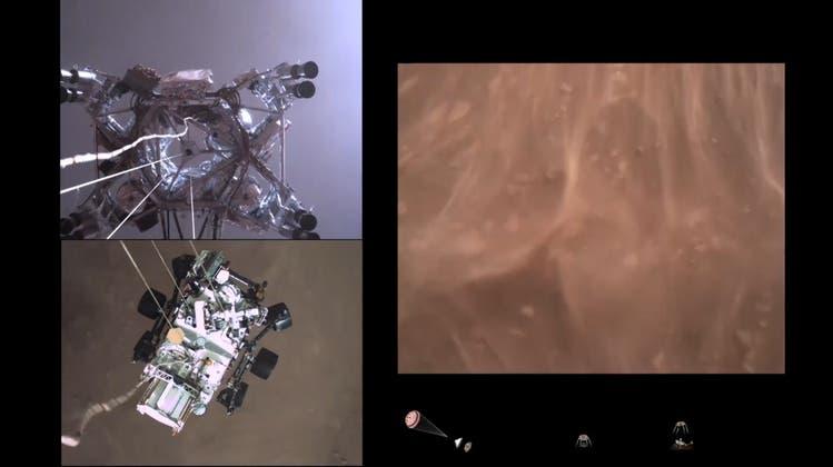 So etwas gabs noch nie: Der Mars-Rover hat das Video von seiner Landung geschickt