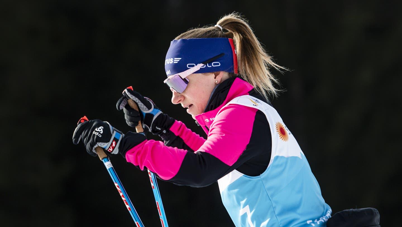 Nadine Fähndrich ist die grosse Schweizer Hoffnungsträgerin in Oberstdorf. (Bild:Gian Ehrenzeller/Keystone (Oberstorf, 23. Februar 2021))