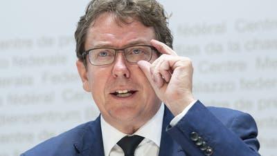 Der Berner SVP-Nationalrat Albert Rösti. (Bild: Peter Schneider/Keystone)