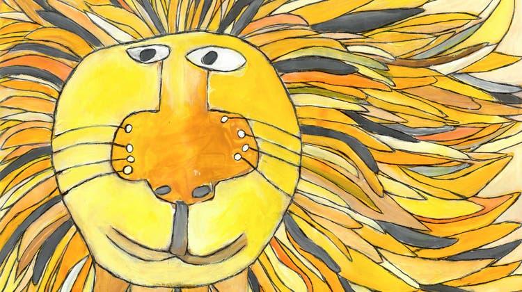 Löwenbild, gemalt von Rebecca Lietha. (Zvg / Aargauer Zeitung)
