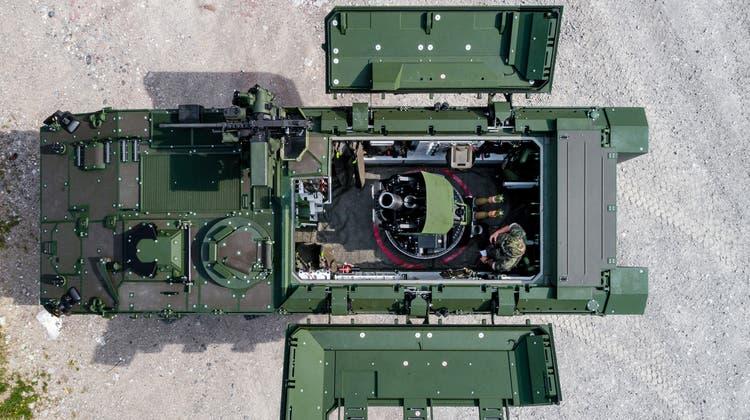 Hochpräzises System für den Kampf im überbauten Gelände: Mit Mörser Cobra bestückter Piranha IV. (Armasuisse)
