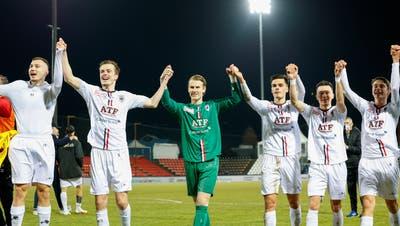 Der FC Aarau gewinnt auch das dritte Direktduell gegen Xamax in dieser Saison. (freshfocus)