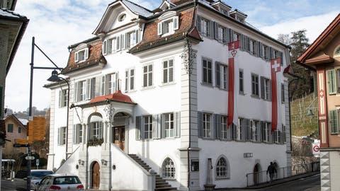 Regierungsgebäudeam Dorfplatz in Sarnen. (Bild: Manuela Jans-Koch (Sarnen, 21. Januar 2021))