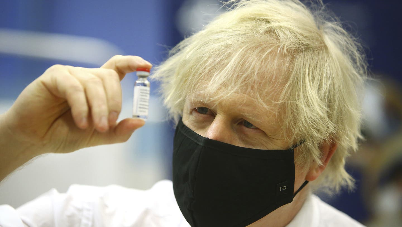 Boris Johnson glaubt, schon im Juni alle Massnahmen abschaffen zu können. (AP)