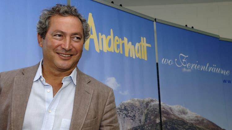 Der ägyptischGrossinvestor Samih Sawiris informierte im Jahr 2006 über das Projekt in Andermatt. (Archivbild) (Keystone)