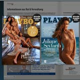 Bei der Onlineversion der «Tegelbachzytig» erscheint derzeit die Werbung vom «Playboy» Magazin. (Bild: Screenshot vom18. Februar 2021)