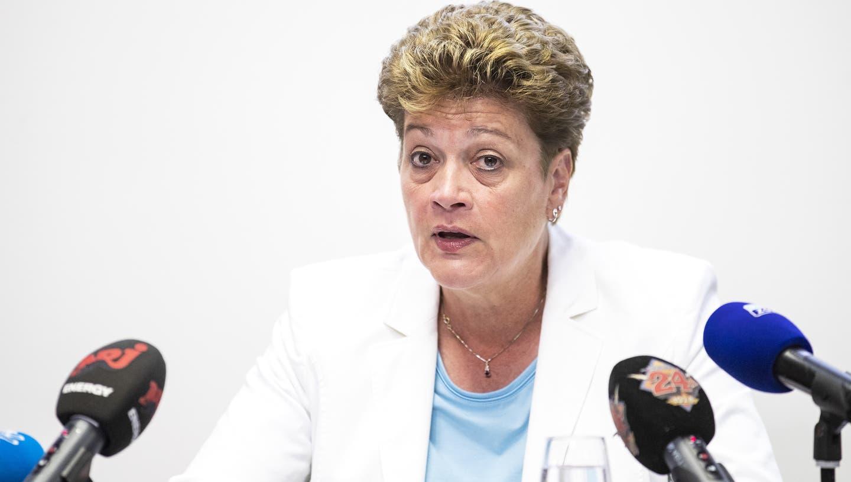 Problematik des Fernunterrichts: EDK-Präsidentin Silvia Steiner. (Bild: Alexandra Wey/Keystone)