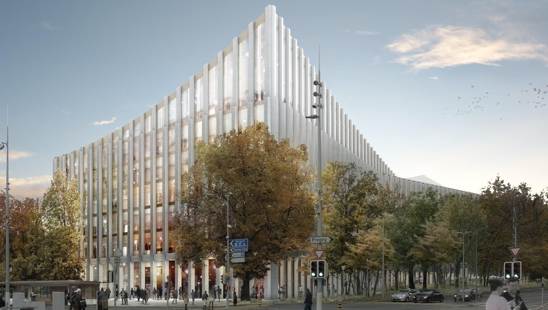 Genf will die Zukunft nicht verschlafen: Bis 2025 soll die 300 Millionen teure, von Privaten bezahlte «Cité de la musique» stehen. (Fondation pour la Cité de la musique de Genève)