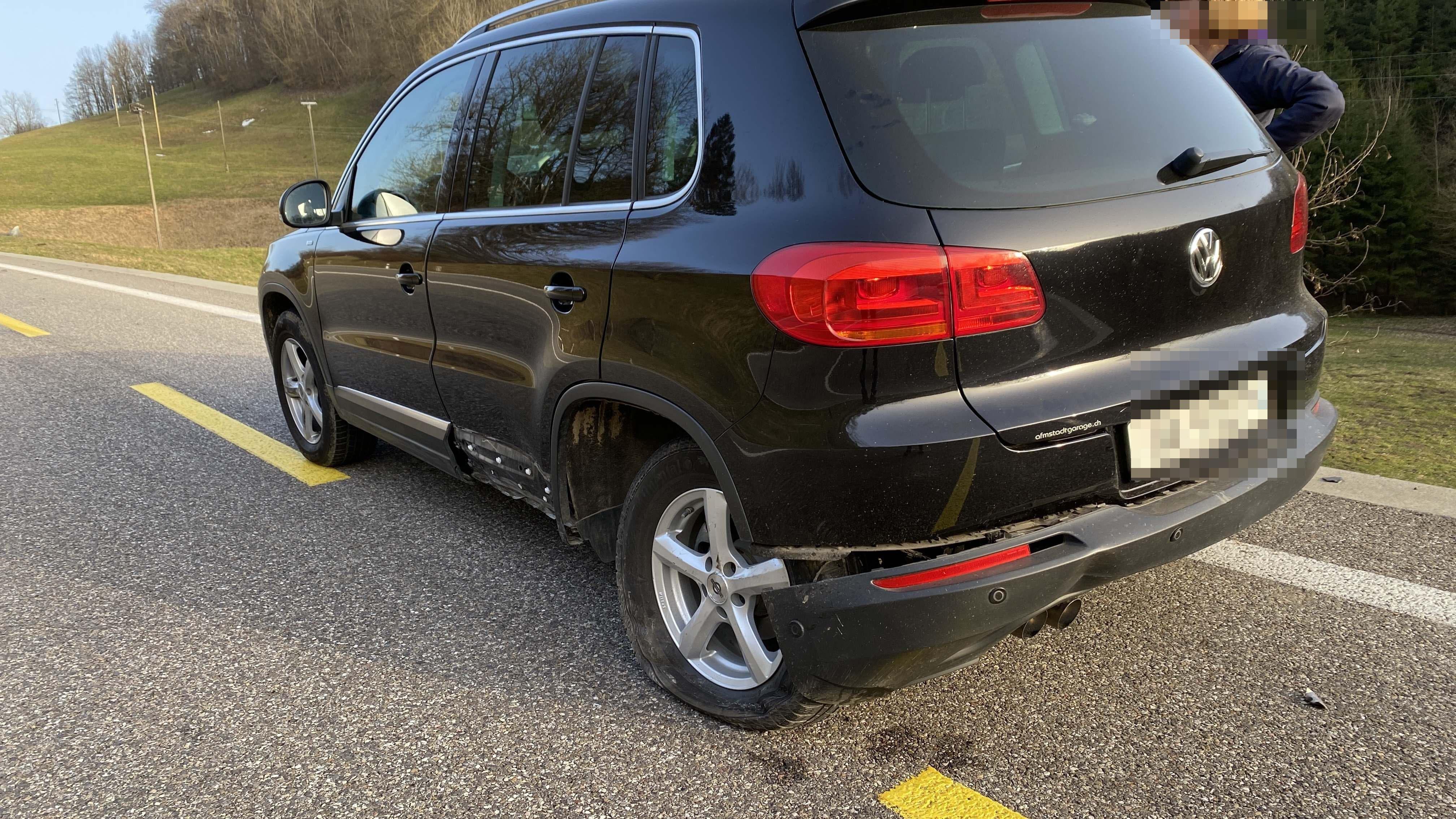Ein weiteres Auto kam zu Schaden.