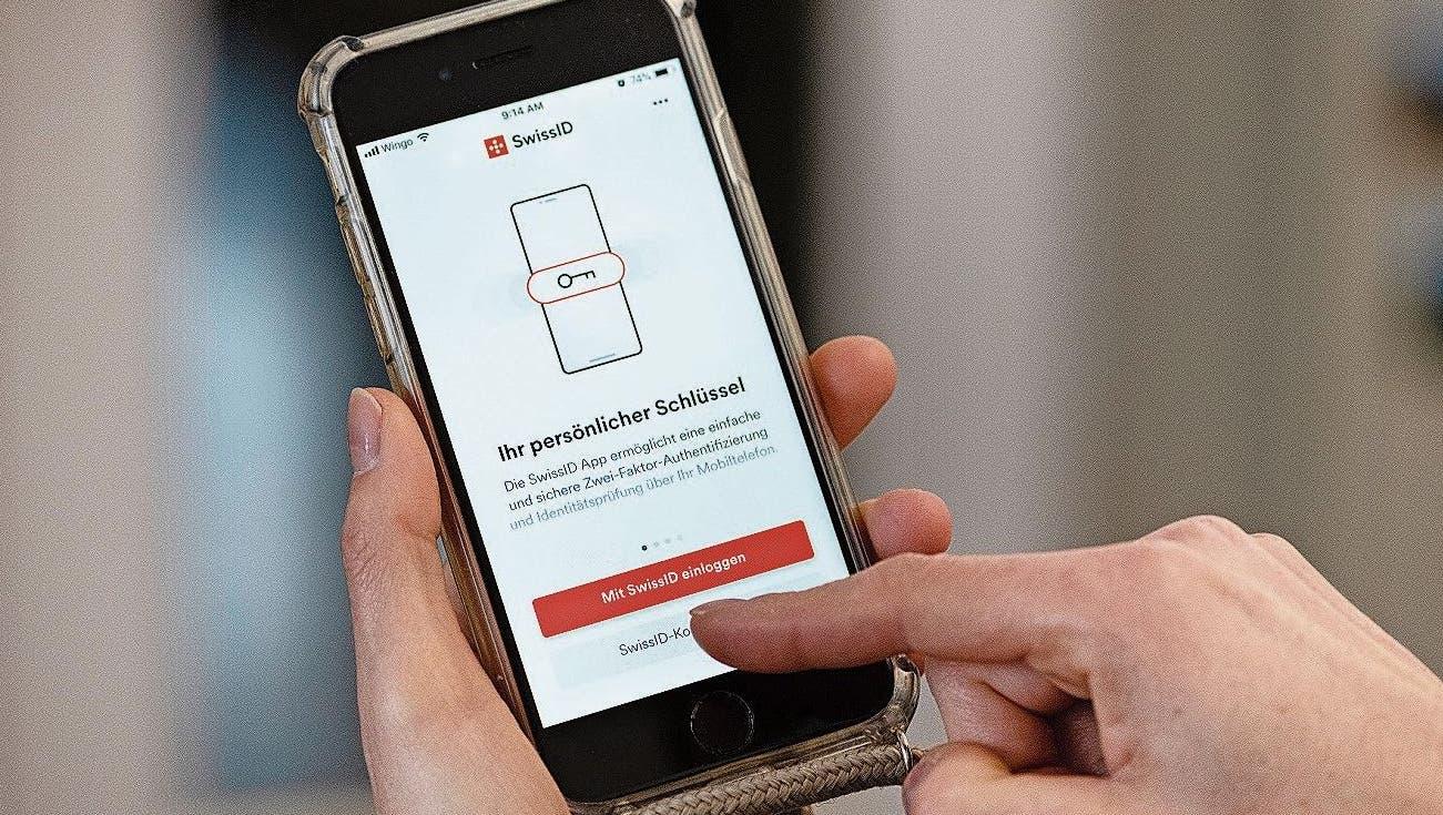 Die SwissID der SwissSign Group soll zur elektronischen Identität (E-ID) werden. (Bild:Keystone (Zürich, 7. Januar 2021))